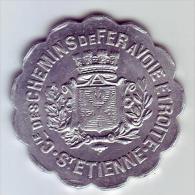 Monnaie De Nécessité - LOIRE 42 - St Etienne - Cie Des Chemins De Fer à Voie étroite. 15c - - Monétaires / De Nécessité