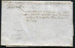 PARCHEMIN FORMAT 510 X 210mm DE 1570 - SUP - Marcophilie (Lettres)