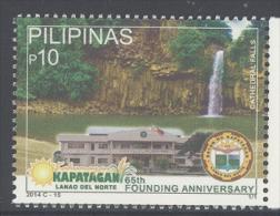 PHILIPPINES ,2014,MNH, KAPATAGAN ANNIVERSARY, WATERFALLS, 1v