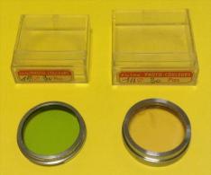 Lentilles Verte Et Rose De 30 Mm De Diamètre Pour Objectif Sans Marque Avec Leurs Boites - Photography