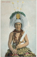 Samoan Warrior Woman Nude  Th. E. L. Serie 1009 Femme Guerrier Seins Nus - Samoa