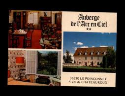 36 - LE POINCONNET - Auberge De L'Arc En Ciel - Carte Pub - - France