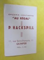 Calendrier petit format 1952  �picerie au regal quimper