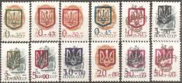 Ucraina  1992  MNH**  -  Yv. 155/165 - Ucraina