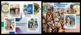 CENTRAL AFRICA 2012 - Lions Club, Rotaty M/S + S/S. Official Issue - Centrafricaine (République)