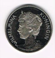 ¨¨ PENNING KONINGIN WILHELMINA  RABOBANK 100 JAAR OPRICHTING CCRB & CCB 1898 - Pièces écrasées (Elongated Coins)
