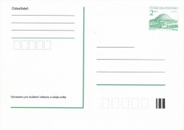 Czechoslovakia / Postal stationery (1992) Rip Mountain (I7207)