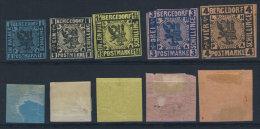 Bergedorf Michel No. 1 - 4 (*) ohne Gummi