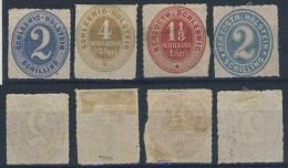 Lot Schleswig Holstein Michel No. 11 , 12 , 15 , 21 (*) ohne Gummi