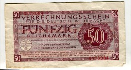 50 Reichmark 15:09:44 Ttb 25 - [10] Military Banknotes Issues