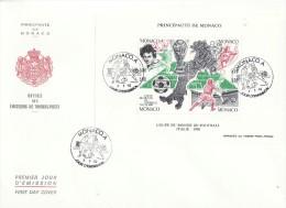 MONACO  SOCCER WC ITALIA    MS  FDC - 1990 – Italia
