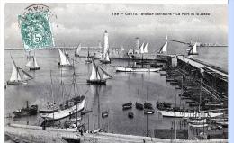 Sète (Hérault) Le Port Et La Jetée - Sete (Cette)