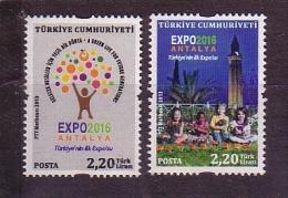 2013 TURKEY EXPO 2016 ANTALYA REGULAR ISSUE STAMPS MNH ** - Nuevos