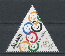 ALAND 2008 N° 295 ** Neuf = MNH Superbe JO été Pékin Chine Jeux Games Anneaux Visages - Aland