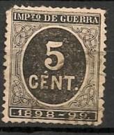 Timbres - Espagne - Impôts De Guerre - 1898-1899 - 5 Cent. - - Impuestos De Guerra