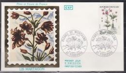 = Enveloppe 1er Jour Flore Et Faune De France Lis Martagon Toulouse 23 Avril 83 N°2267 - 1980-1989