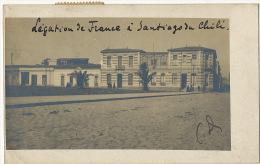 Foto Real Real Photo Legation De France A Santiago 1909 Au Ministre Plenipotentiaire A Paris - Chile
