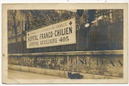 Real Photo Hopital Franco Chilien Chat Noir Guerre 1914 No 405 Croix Rouge Au Consul Chili Barcelona - Chile