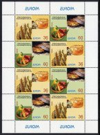 MACEDONIA 2005 Europa: Gastronomy Sheetlet MNH / **.  Michel  348-49 Kb - Macedonia