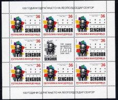 MACEDONIA 2006 Senghor Centenary Sheetlet  MNH / **..  Michel  381 Kb - Macedonia