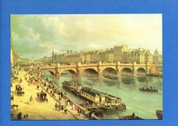 1756 -PARIS -Pont Neuf Et La Cité ...Dessin G.Canella..  Edit Maronian ...(recto-verso) - Ponti