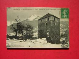 CPA  TARENTAISE  BOZEL  Savoie    TOUR SARRAZINE  LE GRAND BEC   VOYAGEE 1916  TIMBRE - Bozel