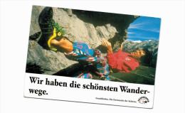 """Thème -  Sport - Escalade - Carte Pub Région Grisons Suisse : """"Wir Haben Die Schönsten Wanderwege"""" - Escalade"""