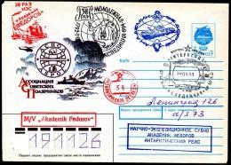 ANTARCTIC,UDSSR, SAE 38 From  MOLEDESCHNAJA  22.3.1993 + 4 Nice Cachets  , Look Scan !! Lot 119-21 - Spedizioni Antartiche