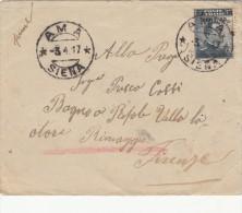 SALDI - 1917 - AMA * SIENA - BUSTINA - MICHETTI C,15 SOPRASTAMPATO  Lèggere Condizioni Vendita W34 - Storia Postale