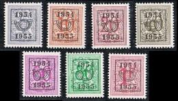"""Année 1954   - PRE645** à PRE651** -  """"1954 - 1955"""" - Cote 8,00€ - Typo Precancels 1951-80 (Figure On Lion)"""