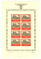 Generalgouvernement Michel No.  64 ** postfrisch Bogen / Stockflecken