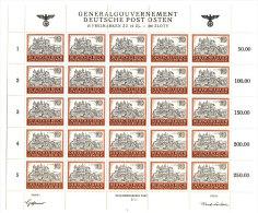 Generalgouvernement Michel No.  116 ** postfrisch Bogen