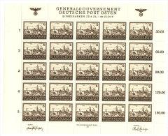 Generalgouvernement Michel No.  115 ** postfrisch Bogen