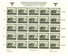 Generalgouvernement Michel No.  113 ** postfrisch Bogen