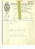 75 - Paris - PARIS - Facture DAMOY – 1905 - REF 87 - 1900 – 1949