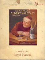 MENU - Champagne Albert Valet & Co - Royal Mareuil - Mareuil-sur-Ay  - 15 Dec. 1945 - Menus