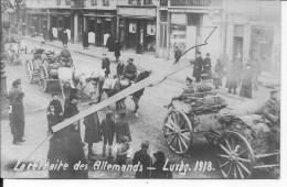 La Retraite Des Allemands Luxembourg 21/11/1918  1 Carte Photo 1914-1918 14-18 Ww1 WwI Wk - Guerre, Militaire