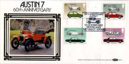 1982 CARS FDC - BROOKLANDS P/M - FDC