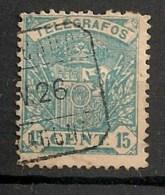 Timbres - Espagne - Télégraphe - 15 C. - - Télégraphe