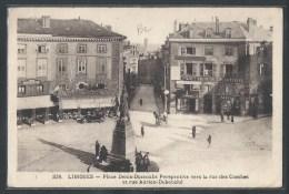 - CPA 87 - Limoges, Place Denis Dussoubs - Perspective Vers La Rue Des Combes Et Rue Adrien-Dubouché - Limoges