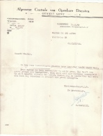 1948 Brief Lettre Factuur  Invoice Jules Algemene Centrale Van Openbare Diensten Ledeberg Gentbrugge - Belgique