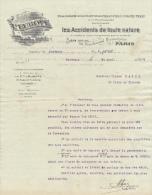 1909 Brief Lettre Factuur Invoice L'Europe Assurances Paris Boulevard Haussmann - Banque & Assurance