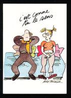 Humour Bretechet / Couple Sur Le Canapé ; C'est Comme Tu Le Sens  //  CP 8/845 - Künstlerkarten