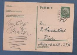 GANZSACHEN - ENTIER POSTAL 1934 ROSTOCK ZU HIER - Deutschland
