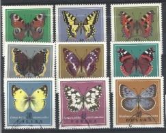 Polen/Pologne/Poland  Y&T N° 1651/59° (papillons/vlinders) - 1944-.... République