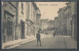 - CPA 87 - Saint-Junien, la rue Saler - RARE