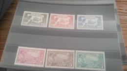LOT 223002 TIMBRE DE COLONIE GUYANE NEUF* N�137 A 142 VALEUR 60 EUROS
