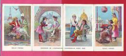 CALENDRIER 1890 AVEC 4 CHROMOS PARFUMS  ET SAVON DE TOILETTE GELLE FRERES AVENUE  OPERA ANCIEN CHROMO