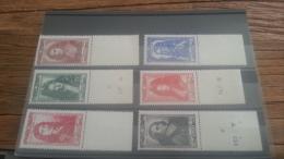 LOT 223108 TIMBRE DE FRANCE NEUF** N�612 A 617 VALEUR 12 EUROS