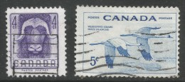 Canada. 1955 National Wildlife Week. Used Complete Set. SG 478-9 - 1952-.... Reign Of Elizabeth II